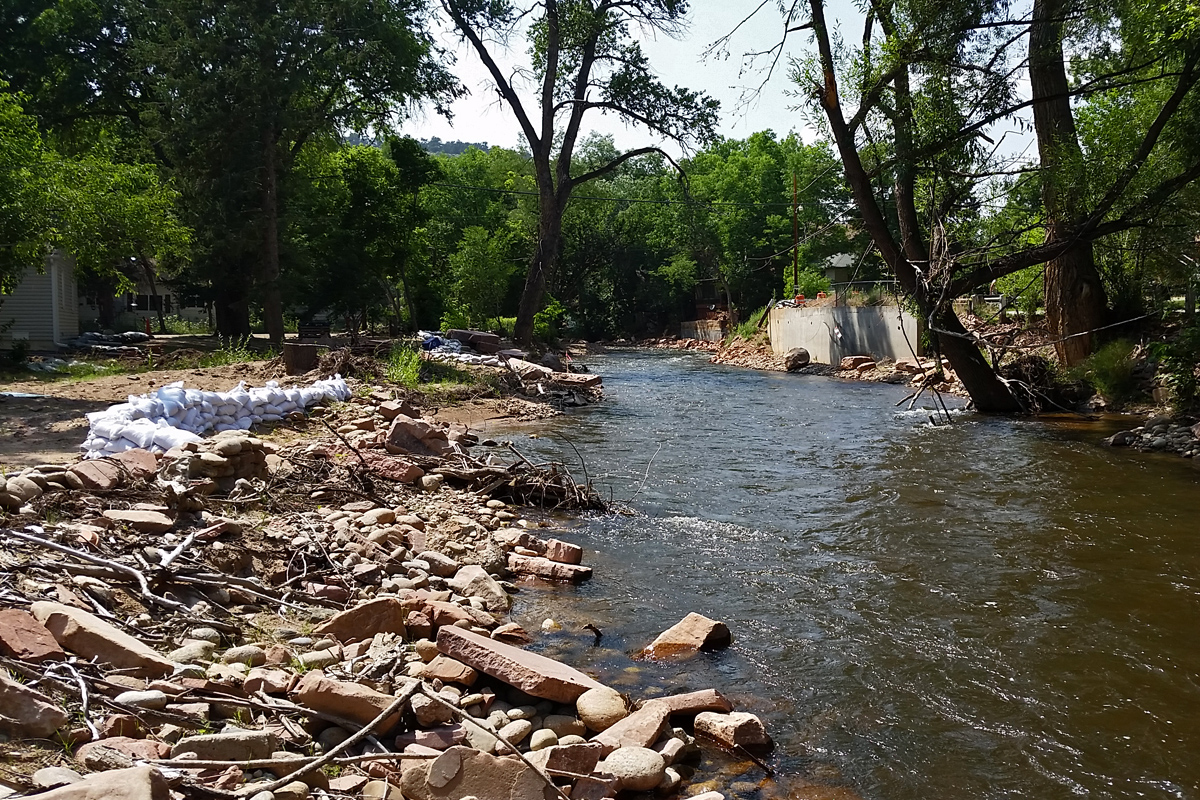 Post Flood saint vrain creek