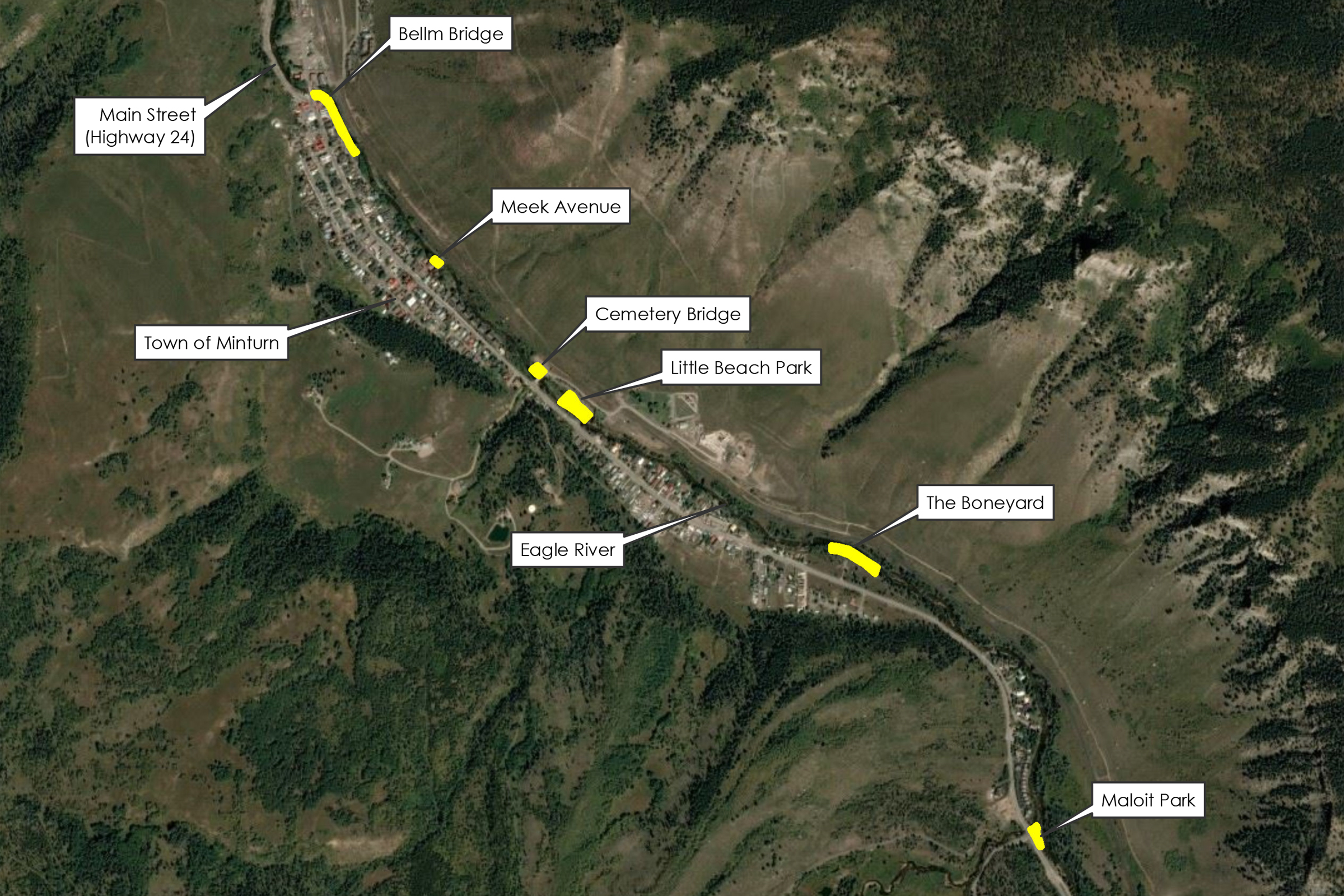 Fishing is Fun Location Map Town of Minturn